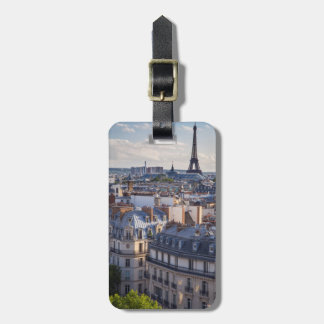 Evening sunlight over the buildings of Paris Luggage Tag