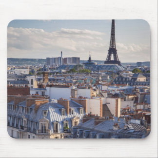 Evening sunlight over the buildings of Paris Mouse Mat