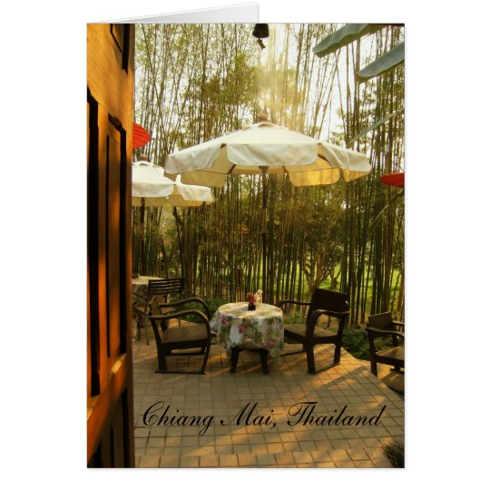 Evening Tea By The Bamboo Grove Card