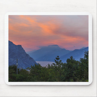 Evening tendency at the Lake Garda Mouse Pads