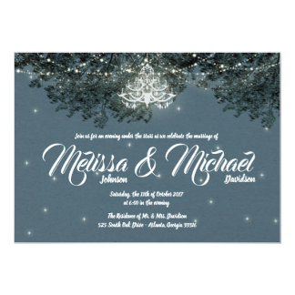 Evening Under the Stars Wedding invitation