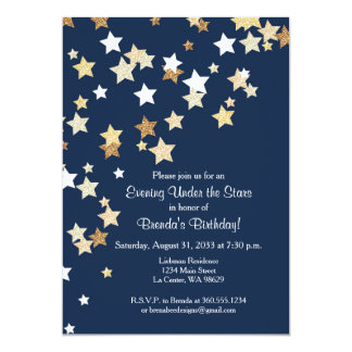 Evening Under the Stars with Gold Glitter Card