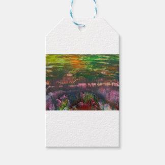 Evening unfurls over landscape gift tags