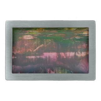 Evening unfurls over landscape rectangular belt buckle