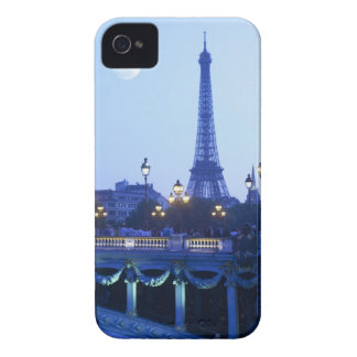 Evening view of Eiffel Tower at moonrise iPhone 4 Case-Mate Case