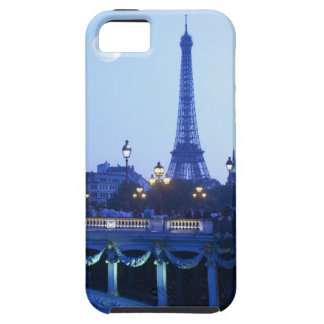 Evening view of Eiffel Tower at moonrise iPhone 5 Cases
