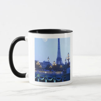 Evening view of Eiffel Tower at moonrise Mug