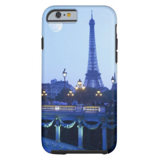 Evening view of Eiffel Tower at moonrise Tough iPhone 6 Case