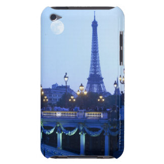 Evening View of Eiffel Tower iPod Case-Mate Cases