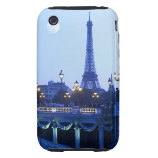 Evening View of Eiffel Tower Tough iPhone 3 Covers