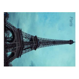 Evening view of the Eiffel Tower, Paris Postcard