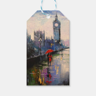 Evening walk in London Gift Tags