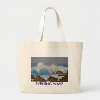 Evening Wave Large Tote Bag