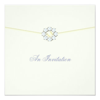 Evening Wedding Invitation Pearl & Diamond Broach