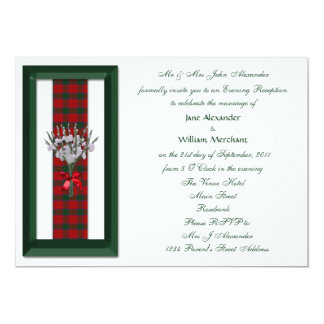 Evening Wedding Invitation Robertson Family Tartan