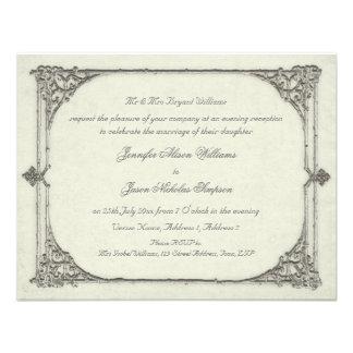 Evening Wedding Invitation Vintage Antique Frame