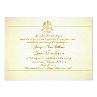 Evening Wedding Invitation Vintage Parchment Paper