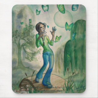 Evening With Butterflies Mouse Pad