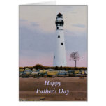Evening's Lighthouse Father's Day Card