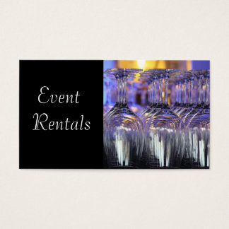 Event and Party Supplies Rental Business Card