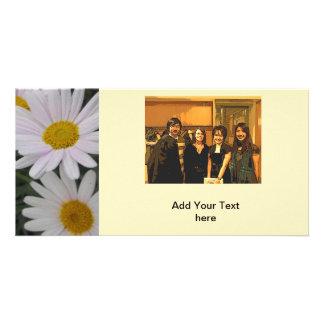 event annoucement card daisy flowers photo card