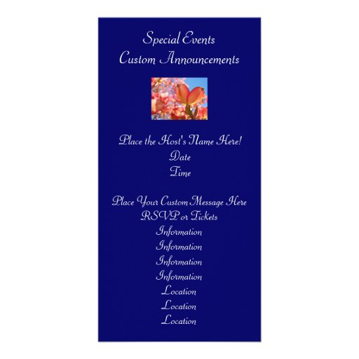 Event Annoucement Cards Invitations Nature Dogwood Picture Card