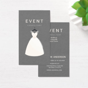 Dress boutique business cards business card printing zazzle uk event consultant bridal and dress boutique business card reheart Images