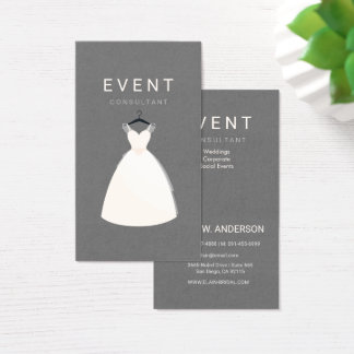 Bridal boutique business cards business card printing zazzle uk event consultant bridal and dress boutique business card reheart Images