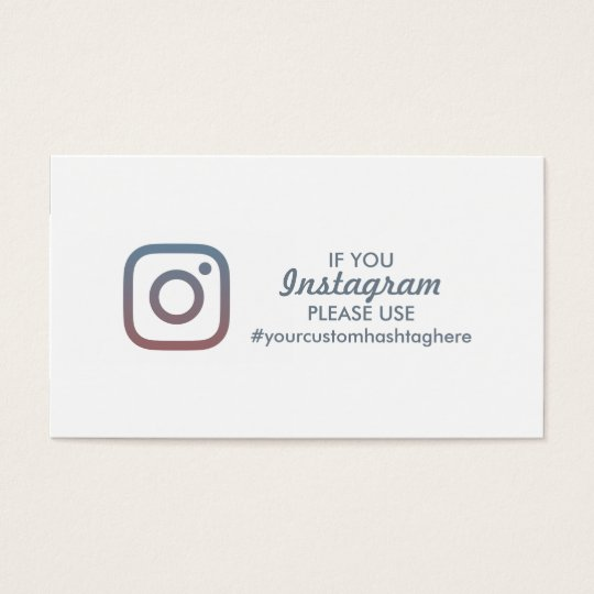 event hashtag business card