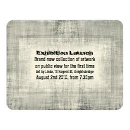 Art exhibition invitations announcements zazzle event invitation exhibition art launch promotion stopboris Image collections
