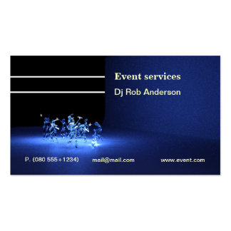 Event or Dj services business card