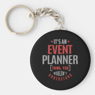 Event Planner Basic Round Button Key Ring