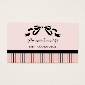 Event Planner Chic Parisian Pink Pinstripes Bow