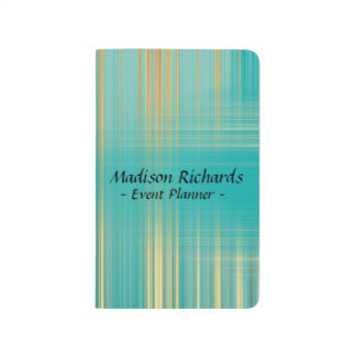 Event Planner Modern Turquoise Pattern Journal