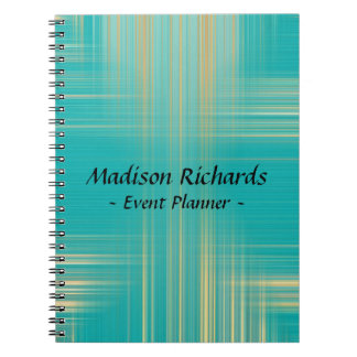 Event Planner Modern Turquoise Pattern Notebook