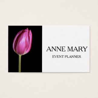 Event Planner Wedding Coordinator Pink Tulips Business Card