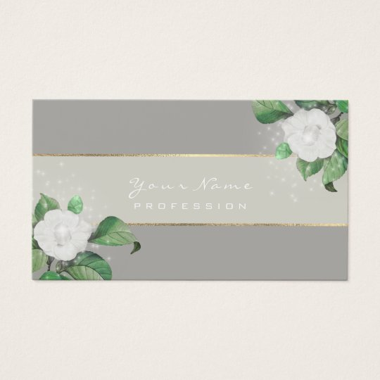 Event Planner White Flowers Green Gray Gold Business