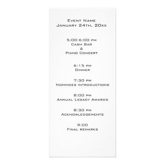 Event Program Template Rack Card