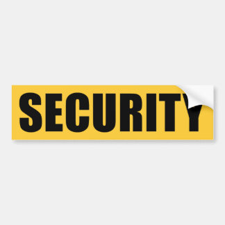 Event Security Crew Bumper Sticker