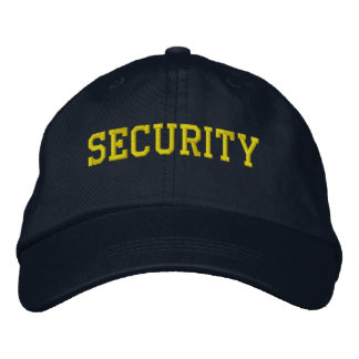 Event Security Golden Yellow on Black Embroidered Hats