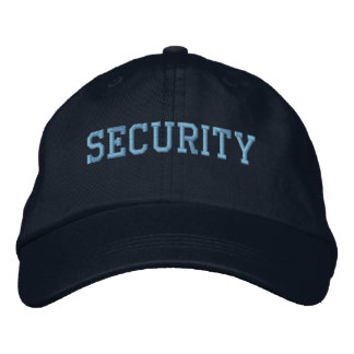Event Security Light Blue on Black Baseball Cap