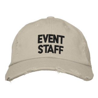 Event Staff Hat Embroidered Baseball Cap