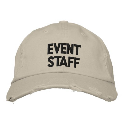 Event Staff Hat Embroidered Baseball Caps
