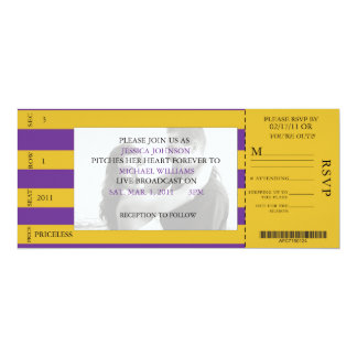 Event Ticket Wedding Invitation