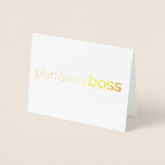 #eventboss Thank You note Foil Card
