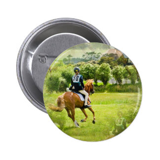 Eventing Horse Button