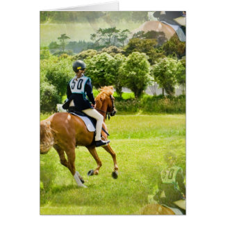 Eventing Horse Greeting Card