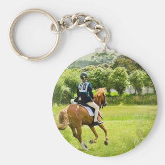 Eventing Horse Keychain
