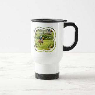 Eventing Horse Plastic Travel Mug