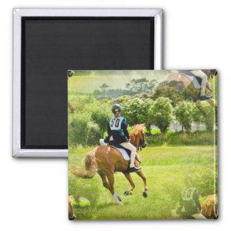 Eventing Horse Square Magnet